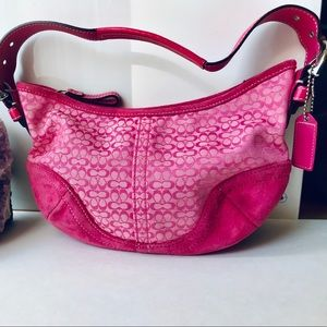 Coach handbag, pink, excellent condition